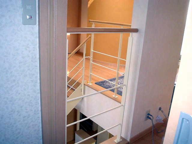 廊下の手すりも階段手すりと同じ仕様