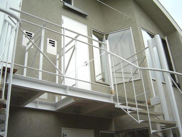 居住者が独占できる階段