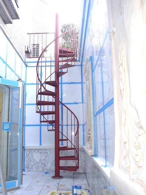 螺旋階段の全体図