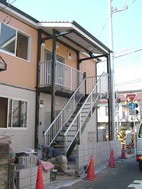 アパートのための鉄骨廊下、階段工事