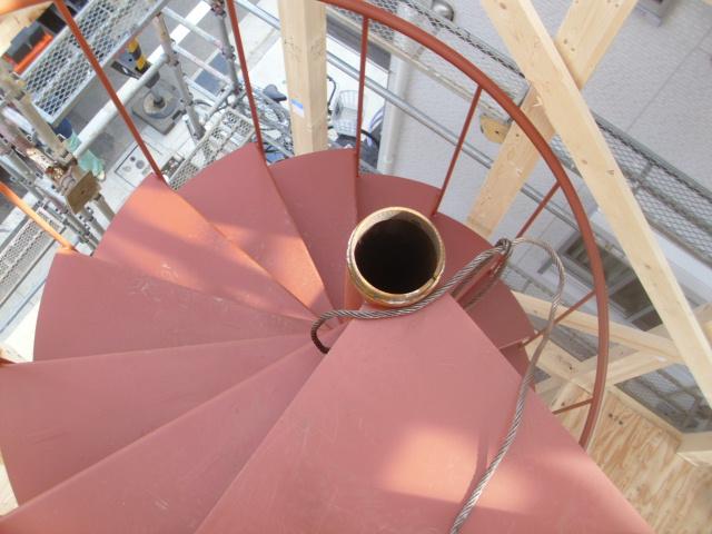 螺旋階段のジョイント
