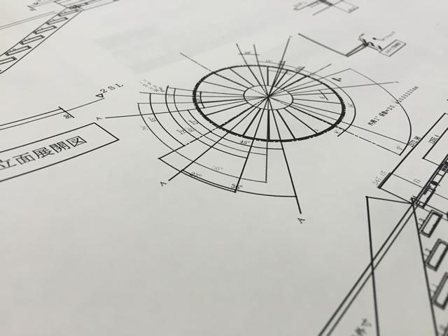 螺旋階段の図面