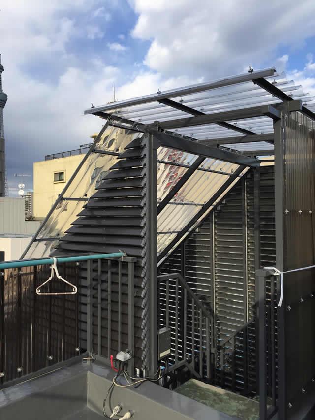 階段屋根のリニューアル