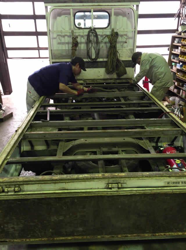 荷台の根太を溶接処理できる鉄工所