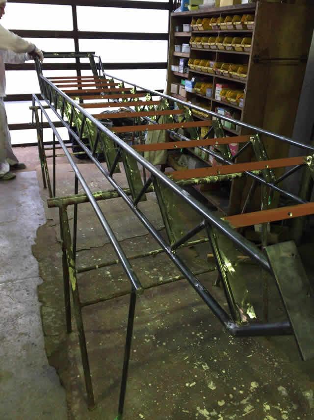 鉄工所で作る鉄骨階段