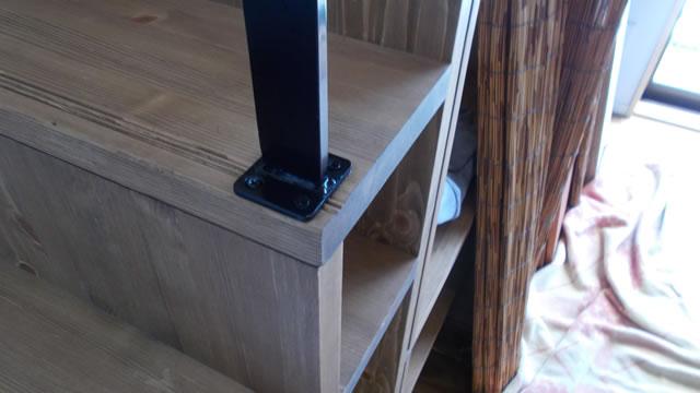 木製階段への手すりのビス固定1