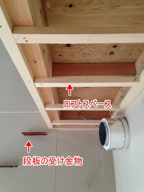 ロフトスペースに階段を設置する