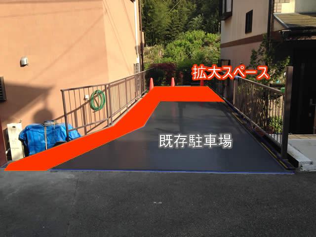 駐車スペースの拡大イメージ画像