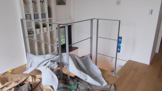 階段吹き抜け部の転落防止